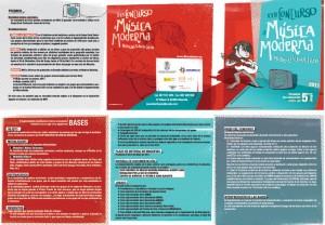 Diseño y maquetación bases de concurso musical en Albacete. Design of posters and brochures for Youth Center.
