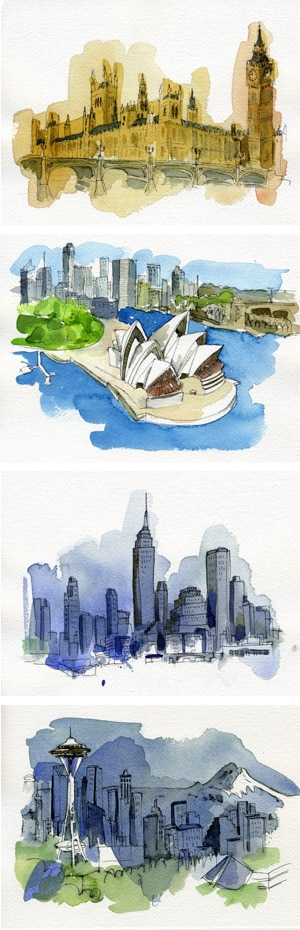 Travel illustrations with Get Brit!