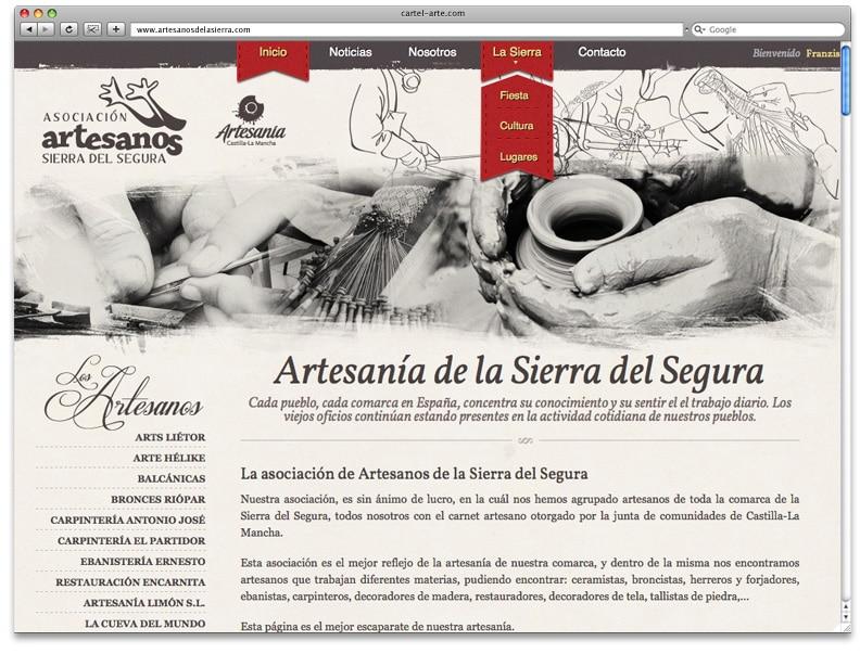 Detalle Menu Artesanos De La Sierra Diseño Web Cartel Albacete