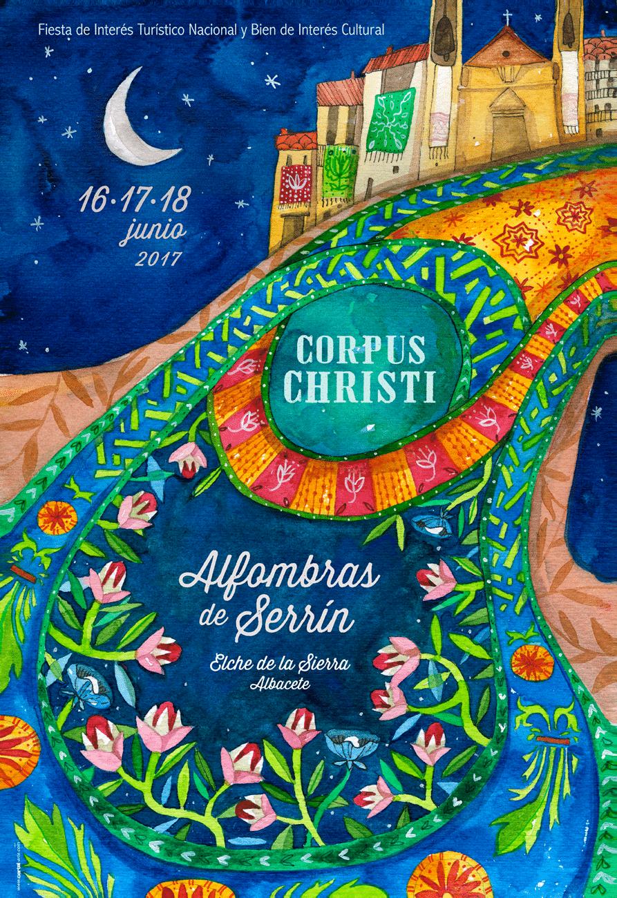 Cartel alfombras de serr n 2017 en elche de la sierra for Oficina de turismo de elche