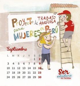 Diseño e ilustración para el calendario de Cáritas